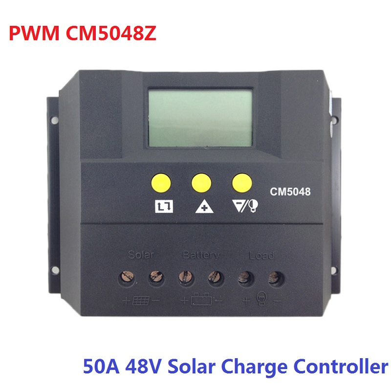 CM5048Z 50A 48V LCD Display Solar Charge Controller PWM Charger Battery Panel Regulator 2400W nv48v050d high quality pwm solar charger controller 50a with lcd display solar battery panel charge controller regulator