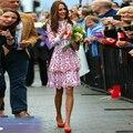 Top Moda mujer 2017 Diseño Elegante Princesa Kate Style Bordado Bud Mini Vestido Dulce Vestidos de Pista de CALIDAD SUPERIOR de Lujo