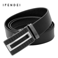 IFENDEI Soft Leather Belt Men S First Layer Of Cow Skin Belts Fashion Automatic Buckle Business