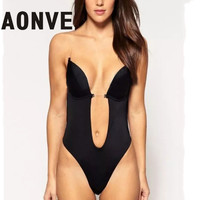 Bra Bodysuit Vestido Backless Shapewear Deep Plunge Thong Body Shaper Invisible Bra Under Dress 2016 Sexy