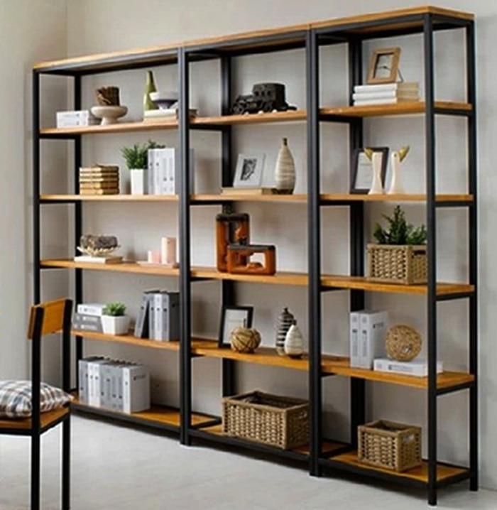 Muebles retro tablilla de madera de hierro forjado acabado for Muebles de esquina para cocina