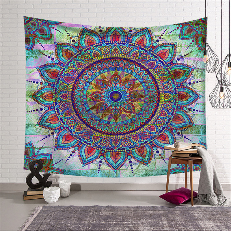 Tapestry Hippie Wall Hanging Witchcraft Tapiz Pared Tela Psychedelic Wandkleed Tenture Murale Tissus Wandtuch Tapisserie Fabric image