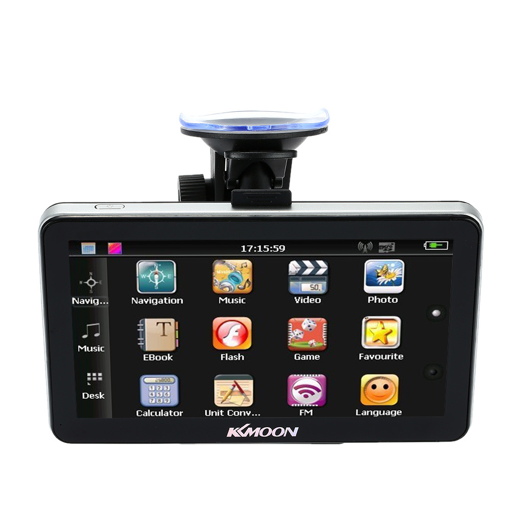 KKmoon 7 Inch Touch Screen GPS Navigator Multi-language MP3/MP4 FM Car GPS Navigation a gauge 7 inch lcd at070tn94 highlight navigation screen screen