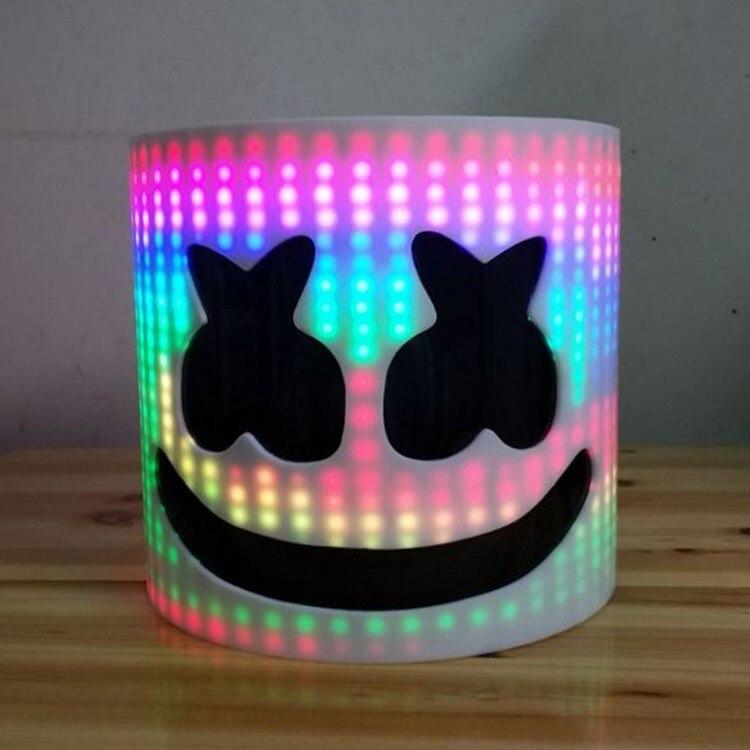 LED Type acrylique DJ masque Marshmello casque Marshmello DJ masque visage chapeau Fans de musique accessoires de Concert