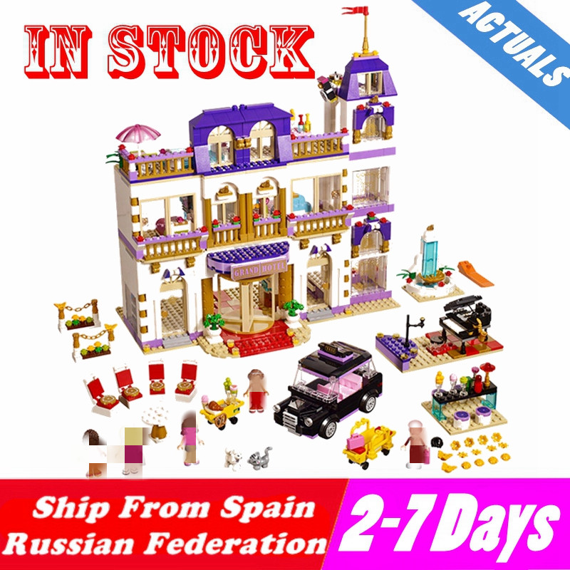 Mailackers M05001 Compatible With Friends Princess Heartlake Grand Hotel Girls Building Blocks Kids Toys Friend