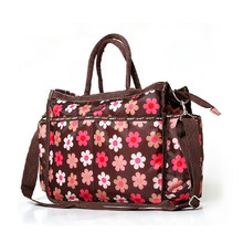 Large Capacity Handbag High-grade Flower Diaper Bag Portable Waterproof Mummy Package Convenience Large Capacity Handbag