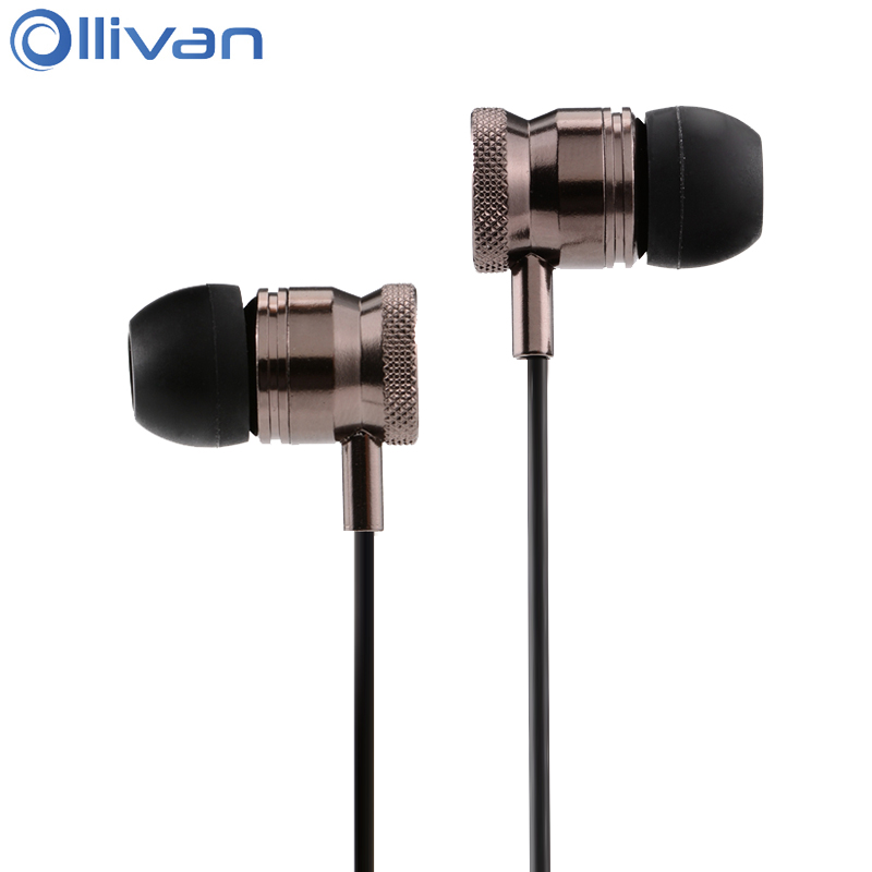 Ollivan EN220 In Ear Earphone Metal Earphones Universal Bass Gaming Headsets For MP3 Subwoofer Earbuds For All Smart Phones