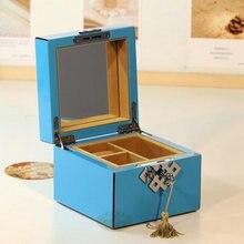Piano paint wooden music jewelry box storage gift music box birthday memorial girlfriend gifts