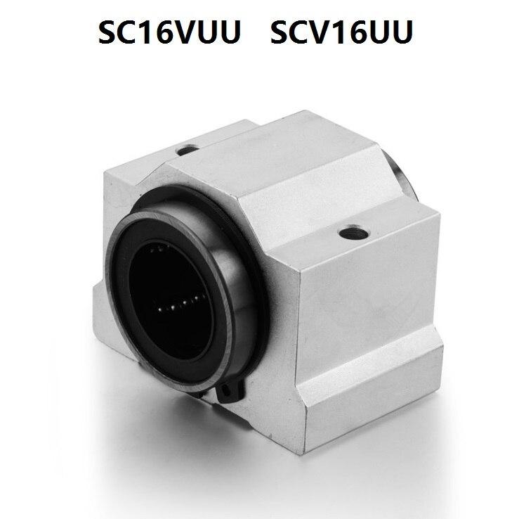 2pcs SCV12 SCV12UU SC12VUU Linear Ball Bearing Pellow Bolck With LM12UU For CNC