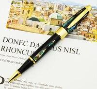 Ручка роллер Duke Real Seashell, Красивая яркая жемчужина в темно зеленом море, изысканная коллекция, подарочная ручка и деревянная подарочная коро