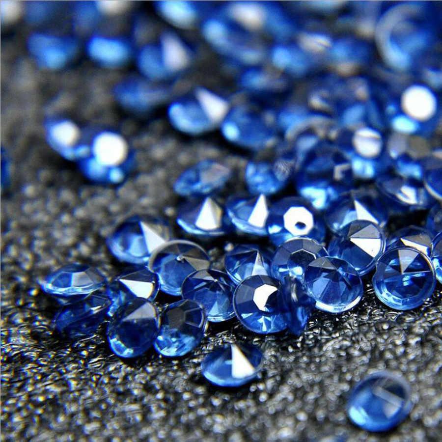 Manshui 1000 Piezas 10mm Cielo Azul de Cristal acr/ílico Diamantes Mesa de Confeti Floreros Rellenos de Perlas Decoraci/ón Cielo Azul, 10mm