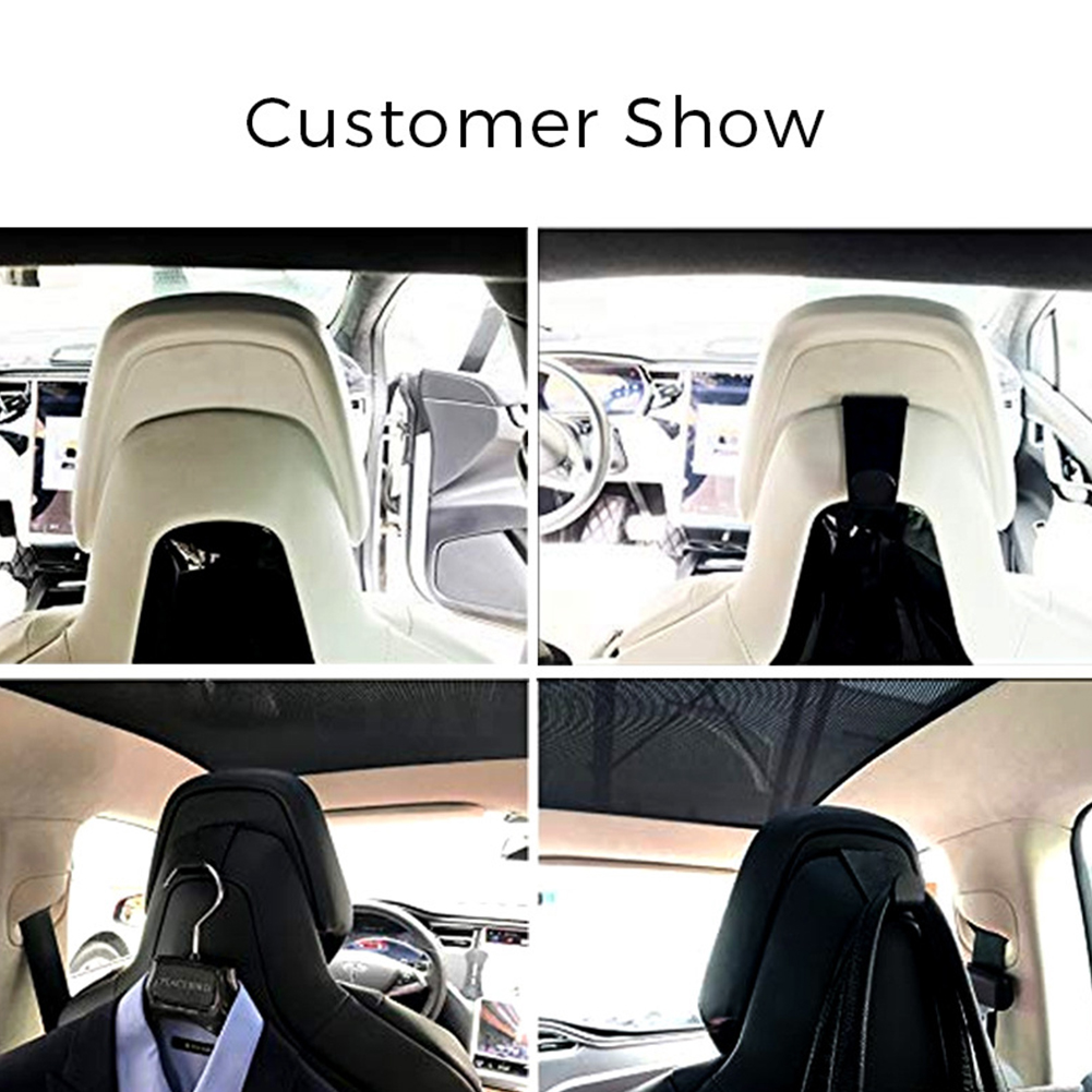 1pc Hook Alloy Purse Bag Car Seat Back Holder Luggage Headrest Accessories Clothes Hanger Clip Interior Organizer For Tesla S X in Auto Fastener Clip from Automobiles Motorcycles