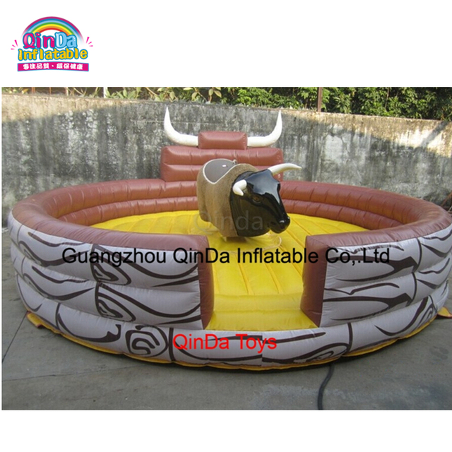 Indoor Playground Games Machanical  Inflatable Redeo Bull Riding For Sale