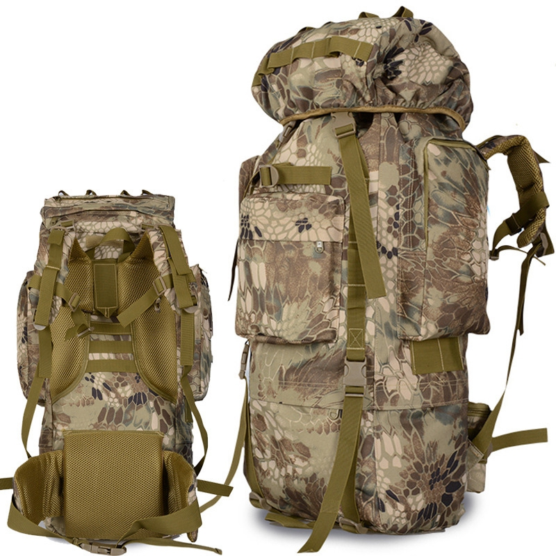 80L Outdoor Backpack Large Capacity Camping Camouflage military rucksack Men women Hiking Backpack army tactical bag