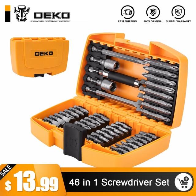 DEKO 46 в 1 отвёртки комплект Phillips/щелевые биты с магнитной Multi Tool бытовая техника ремонт ручные инструменты комплект