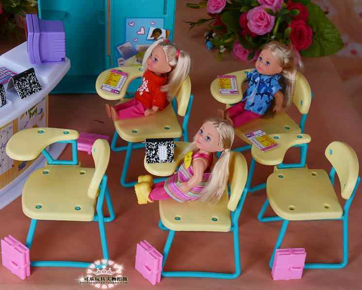 for classroom barbie kelly Furniture Scene Props Kindergarten Classroom Set Girls Toys barbie dollhouse accessories