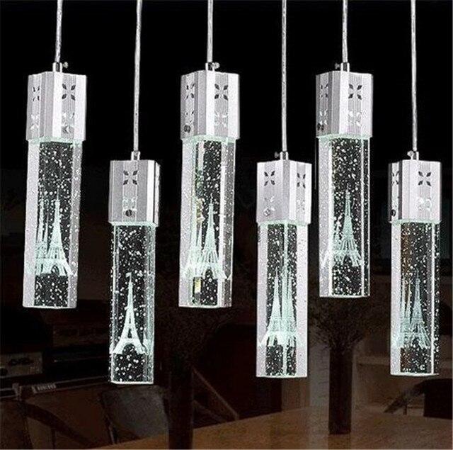 3 teile/los Küche pendelleuchte beleuchtung Lampen Mode Kristall ...