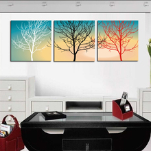 Abstract White Red Black Trees Landscape Canvas Print Painting Modern Canvas Wall Art for Home Decoration Unframed 3 Panels