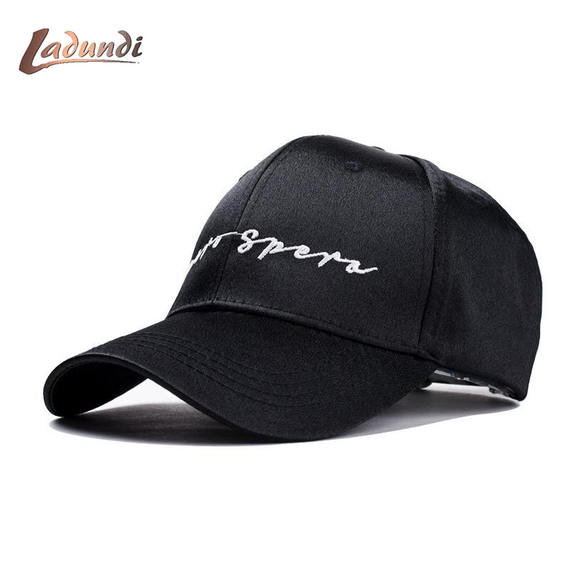 Satin Baseball Cap Women Embroidery Letter Snapback Dad Hat Hip Hop Cap For Lady Girls Bone Casquette Snap Back Female Pink