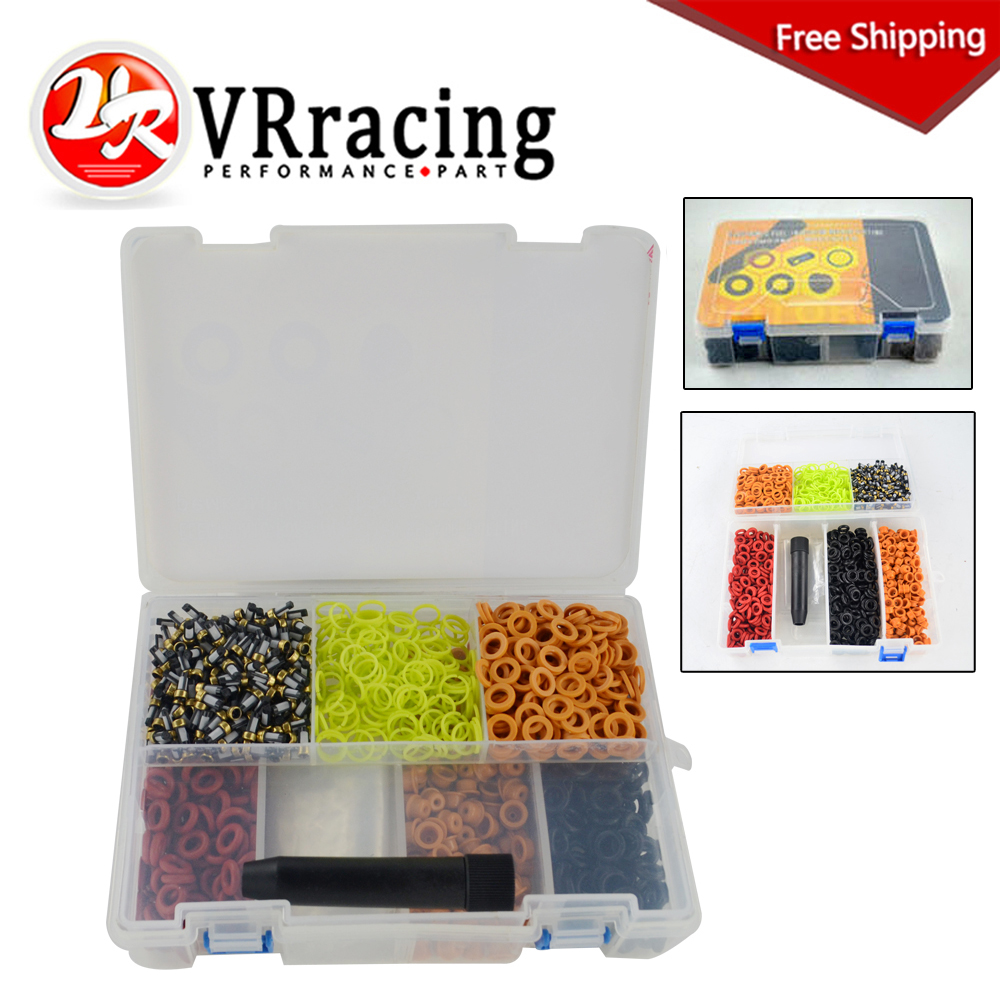 FREE SHIPPING fuel injector repair kits Universal type 200sets/box VR4489 200sets high quality universal type fuel injector filter repair service kits fuel injector basket filter seal printle cap spacer