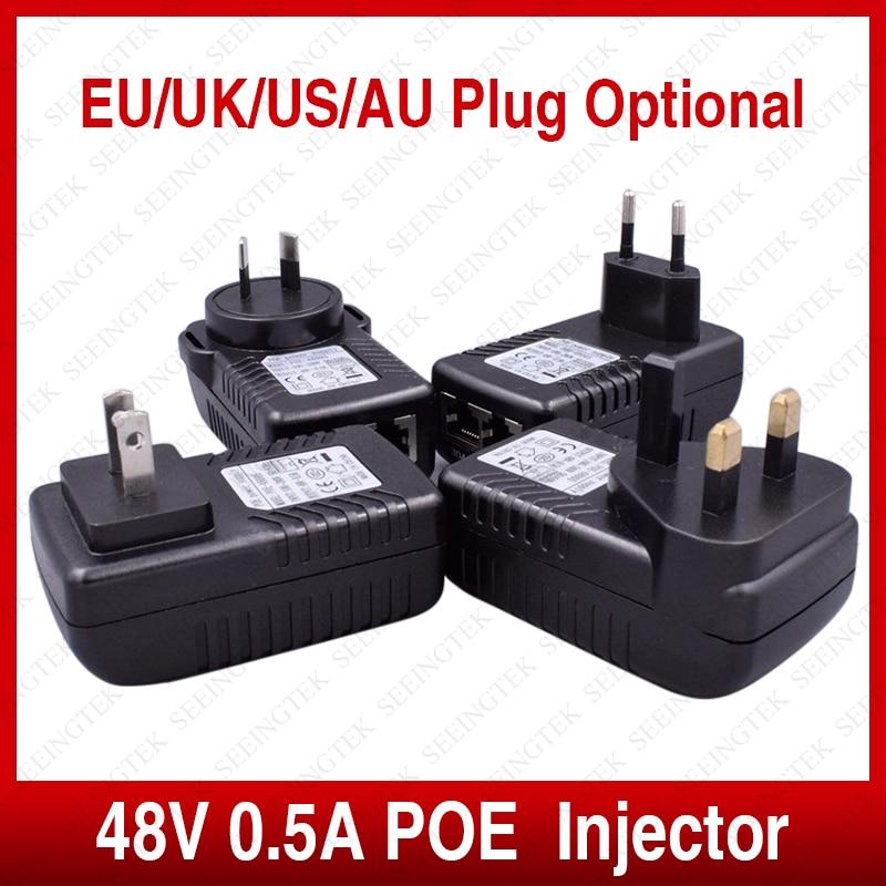Активные 48v0. 5a poe cctv ip камеры инжектор power over ethernet poe коммутатор ethernet адаптер питания ес/великобритания/сша/ас plug