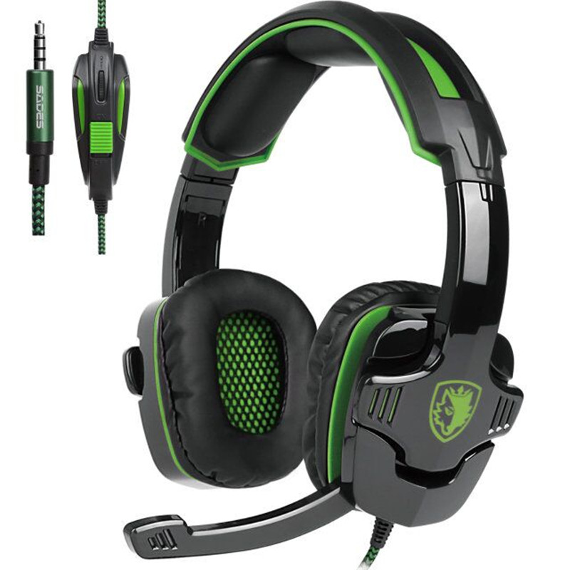 Sades SA930 Gaming Headphone 3.5mm Wired Computer Stereo Headset casque with Microhpone Mic for PC Mobile Phone Game Gamer original pc900 gaming headset 7 1 surround sound channel usb wired headphone with mic volume control best casque for gamer