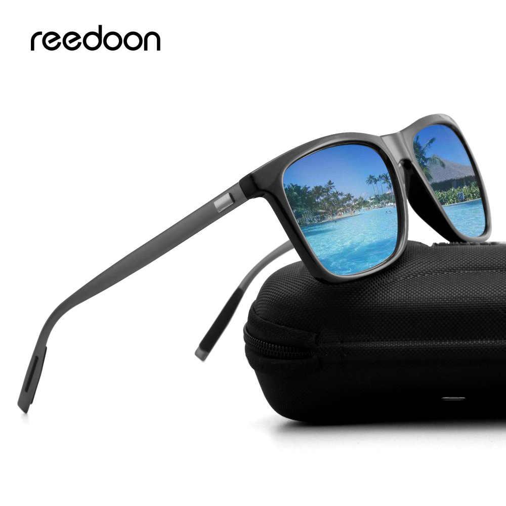 Reedoon 2018 lunettes de soleil polarisées miroir lentille UV400 carré cadre marque concepteur Vintage lunettes de soleil de haute qualité pour hommes femmes