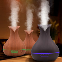 Essential Oil Air Aroma Humidifier Ultrasonic Air Aromatherapy Essential Oil Diffuser 400ml Changing LED Lights Electric