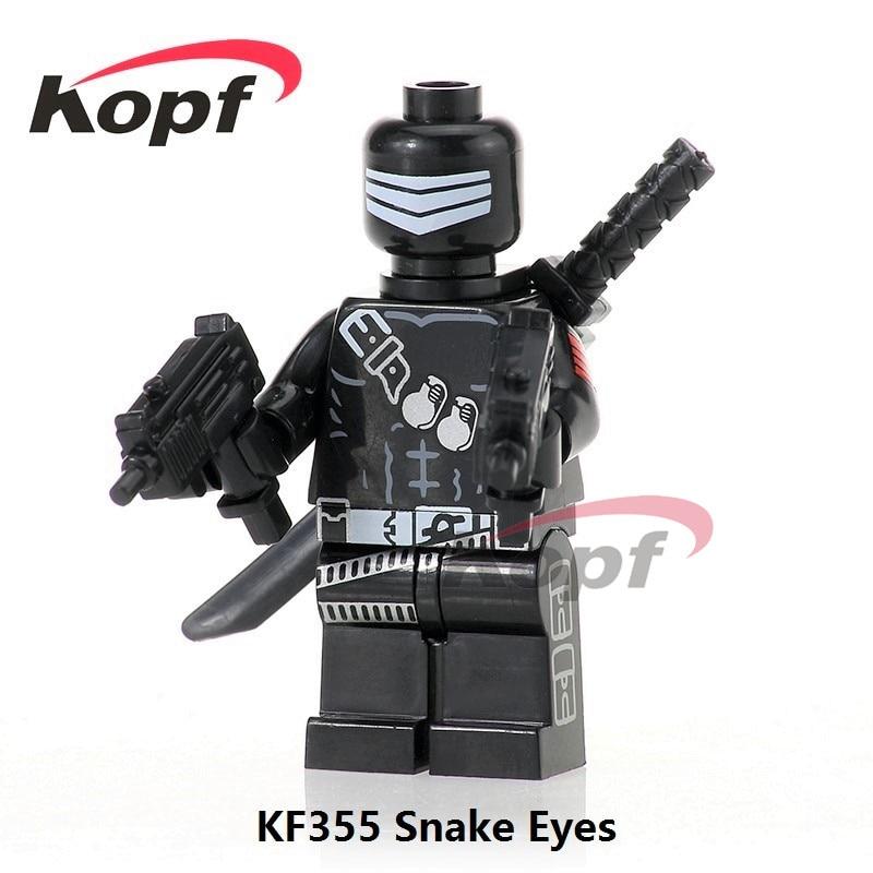 Single Sale KF355 Gi Joe Series Snake Eyes Storm Shadow Serpentor Bricks Model Super Her ...
