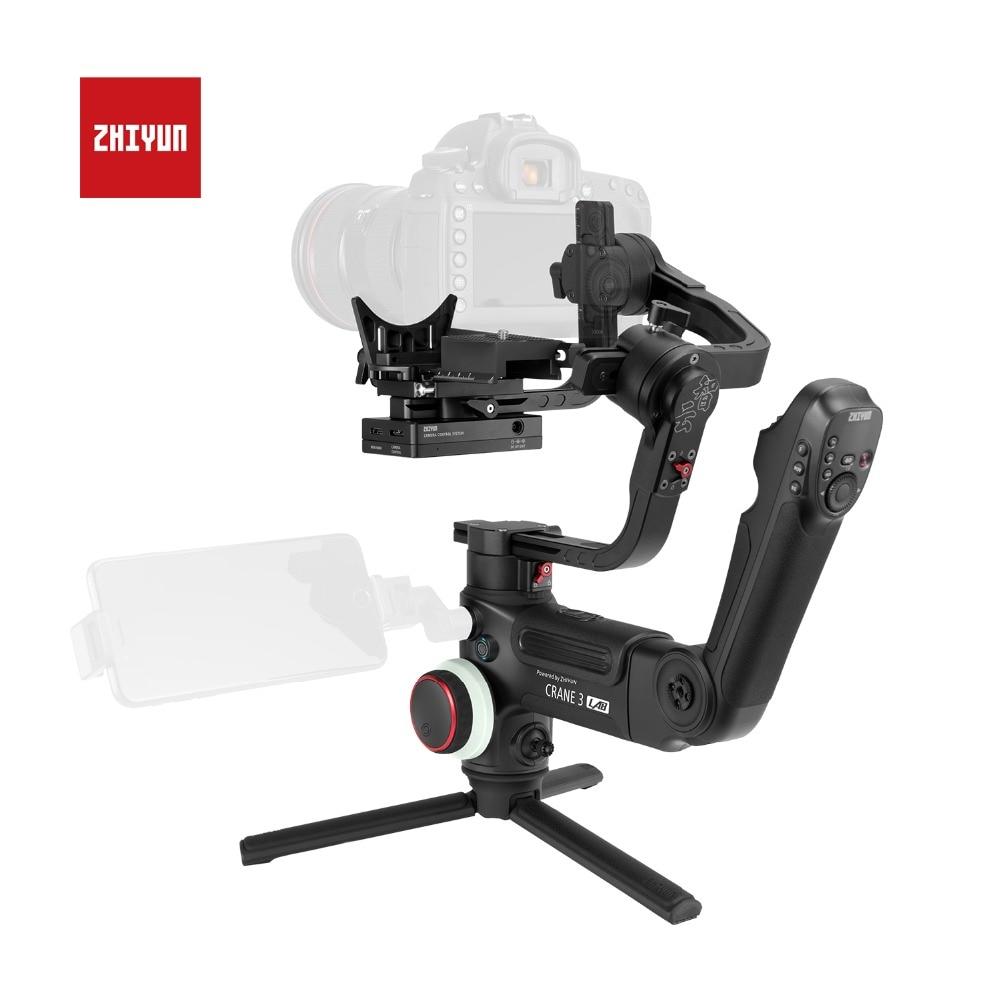 ZHIYUN Officielles Grue 3 LABORATOIRE 3-Axes De Poche Cardan Sans Fil 1080 P FHD Image Transmission stabilisateur de caméra pour DSLR VS grue 2