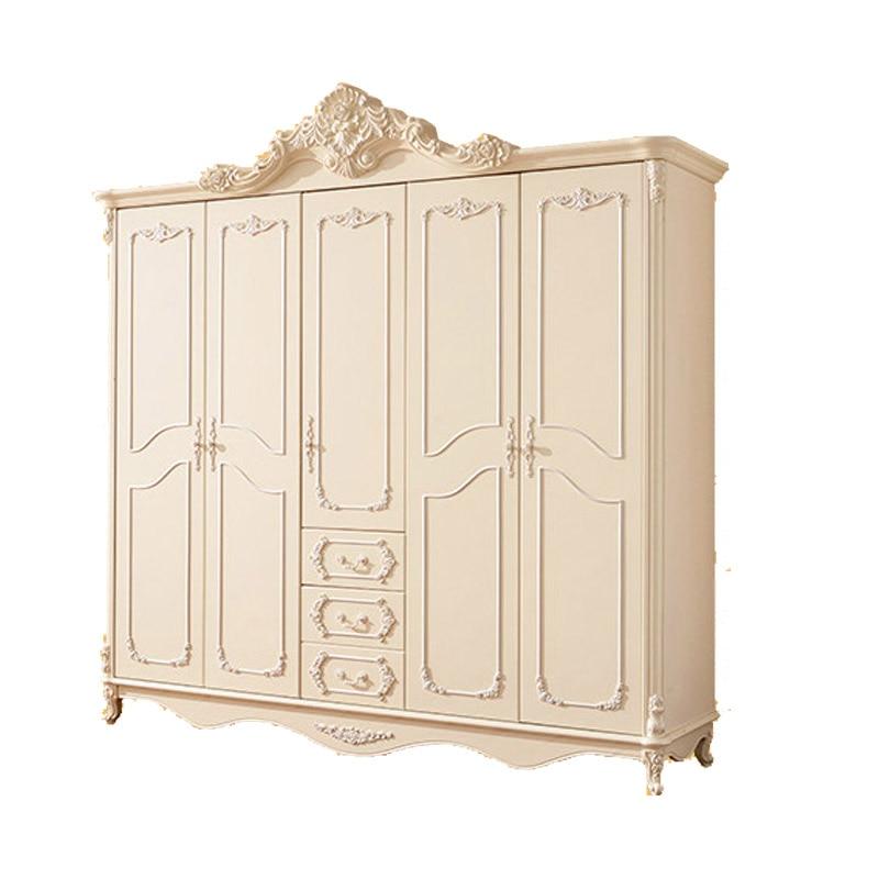 Furniture Wood Wardrobe Closet ~ French five combinations of solid wood wardrobe closet