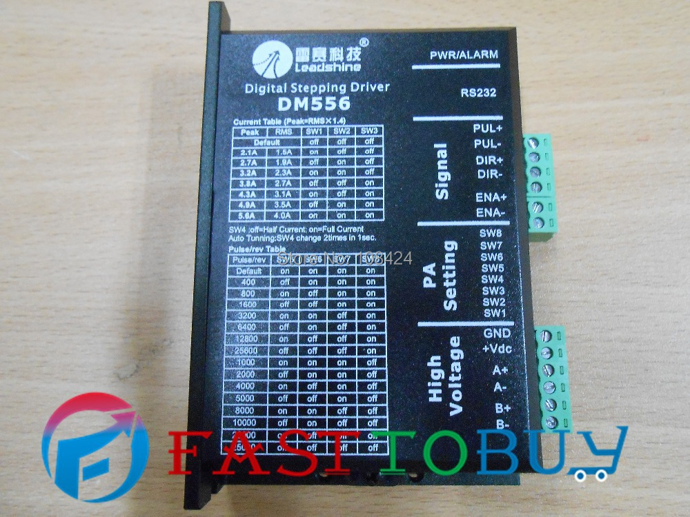 ФОТО DSP Digital Stepper Drive DM556 Leadshine 2ph 57mm NEMA23 86mm NEMA34 motor 18-50VDC 2.1-5.6A New freeshipping