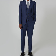Azul Marino negocios traje casual elegante novio Esmoquin boda Trajes  partido prom moda Trajes Delgado 3 unids (chaqueta + chale. 7a3f7d54e32