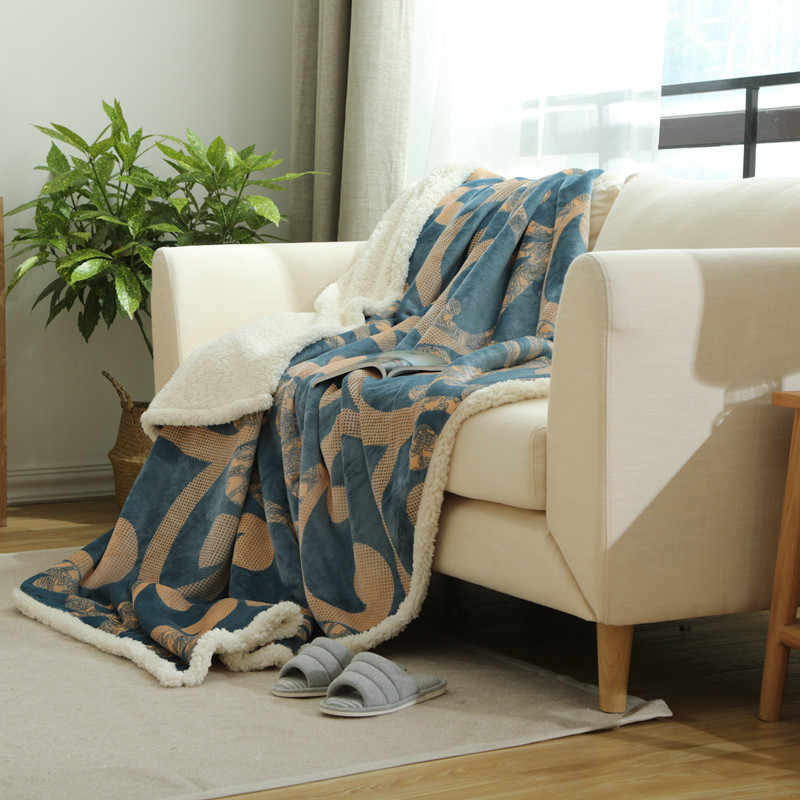 Svetanya thick Throws Blanket Print Bedding Plaid Rectangle
