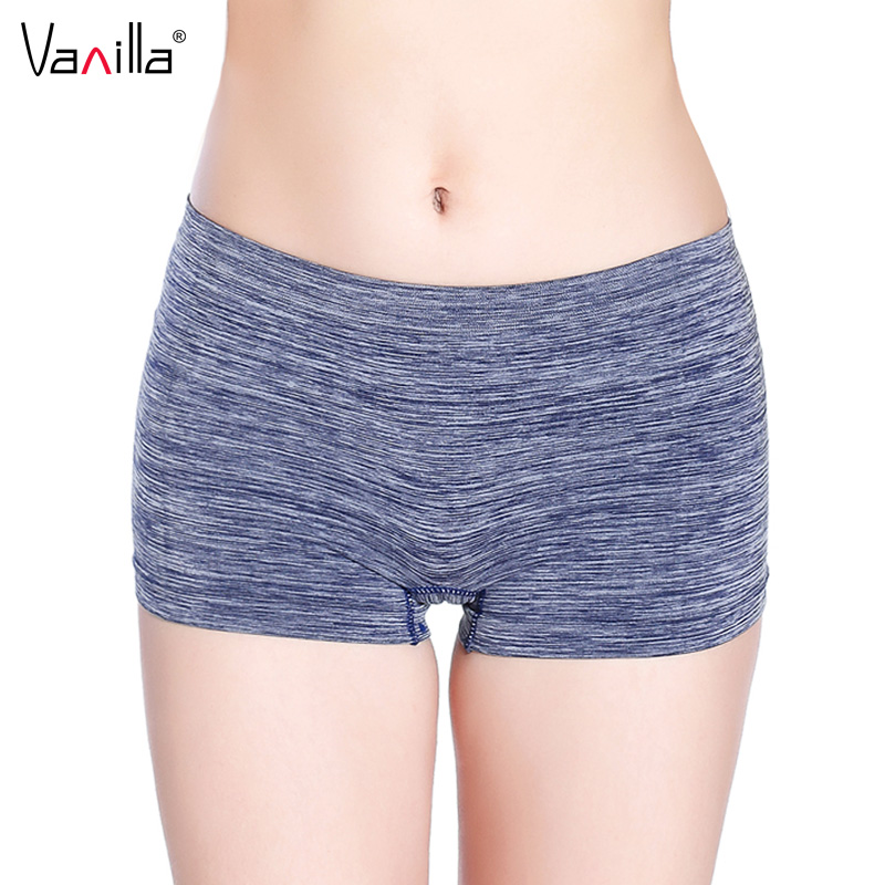 Vanilla Sexy Women Ladies Boyshort Casual Comfortable Seamless Boxer Shorts Culotte Femme Safety Panties Sexy Lingerie Underwear