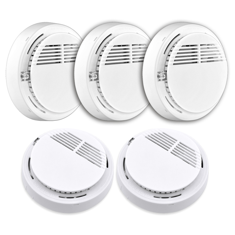 все цены на 5pcs/lot Stable Photoelectric Wireless Smoke Fire Detector Sensor 433MHz For Our Alarm System 433MHZ онлайн