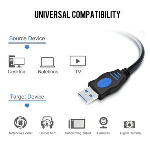 Image 5 - VOXLINK USB to USB Extension Cable USB 2.0 Male to Male Extend Cable External hard drive cable Adapter For Radiator Hard Disk