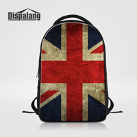 Dispalang Large Capacity Laptop Backpack Flag Pattern Women School Bags For Teenagers Men Oxford Travel Bags