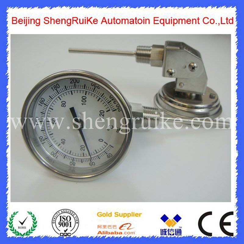 Adjustable industrial thermometer 0-120C&40F~250F , SS 304 case, best price ,good quality, best sell