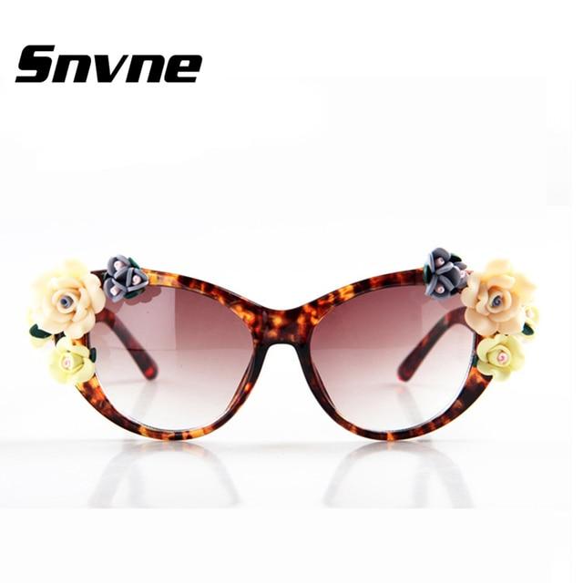 d73ddb6b00 Snvne Three-dimensional roses Baroque sunglasses women s lentes oculos  gafas de sol feminino lunette soleil
