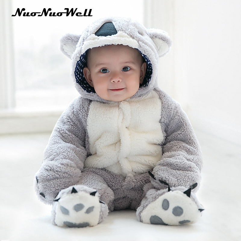 Baby Boys Girls Kids Jumpsuits Cute Baby Winter Hand Cover Bear Rompers Toddler Rompers Gifts Children Climbing Clothes 0-2 Y 2016 winter new soft bottom solid color baby shoes for little boys and girls plus velvet warm baby toddler shoes free shipping