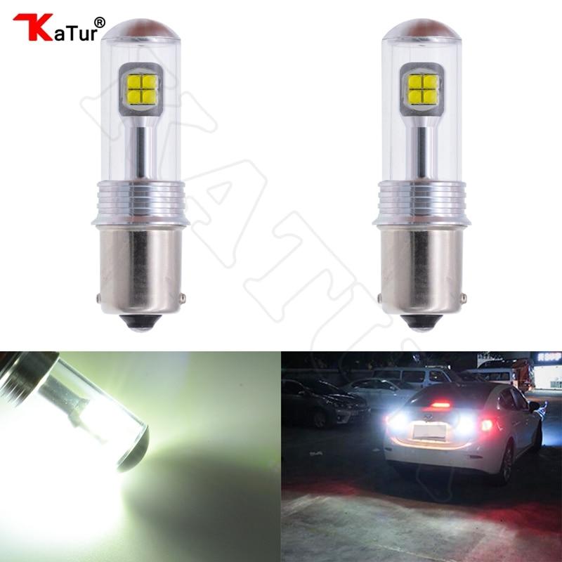 2 Pieces Katur 1156 BA15S Led Car Light Turn Signal Reverse Backup Light High Quality Cree Chip 80W 1500Lm 12V P21W S25 1156 Led