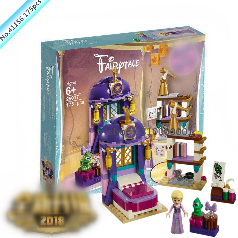 Girl Princess Friend Series Rapunzel Castle Bedroom Building Blocks Bricks Compatible 41156 legoingly Model Building Toys Child