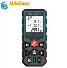 цена на Mileseey laser distance meter electronic roulette laser digital tape rangefinder trena metro laser range finder  measuring tape