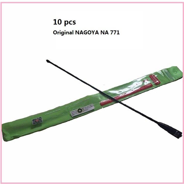 10 pièces D'origine nagoya na-771 SMA Femelle 144 430 Mhz Double Bande Antenne Pour radio bidirectionnelle Baofeng UV-5R uv82 TK-3107 PX-777 antenne