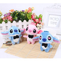 50Pcs/Lot Cute Lilo and Stitch Plush Toys With Chain Phone DIY 10Cm PP Cotton Small Pendant Stuffed Gifs For Wedding Or Children