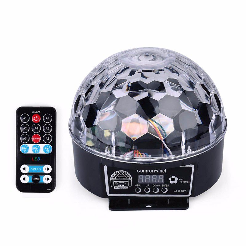 DJ 9 Colors 27W Crystal Magic Ball Led Stage Lamp Party Lights Sound Control Christmas Laser Projector  21 Modes  Laser Light