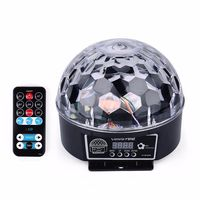 DJ 9 Colors 27W Crystal Magic Ball Led Stage Lamp Party Lights Sound Control Christmas Laser