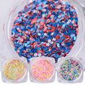 1 Box 3g Cheese Nail Sequins Mixed Nail Art Glitters Powder Dazzling Sparkly Manicure Nail Art Decorations SN09-16