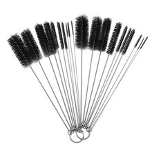 10 Pcs Nylon Bottle Tube Nozzle Brushes Cleaning Brush Kitchen Cleaner Set For Drinking Straws / Glasses / Keyboards / Jewelry(China)